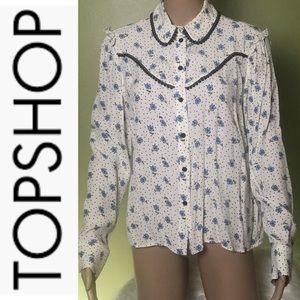 TOPSHOP floral print design blouse